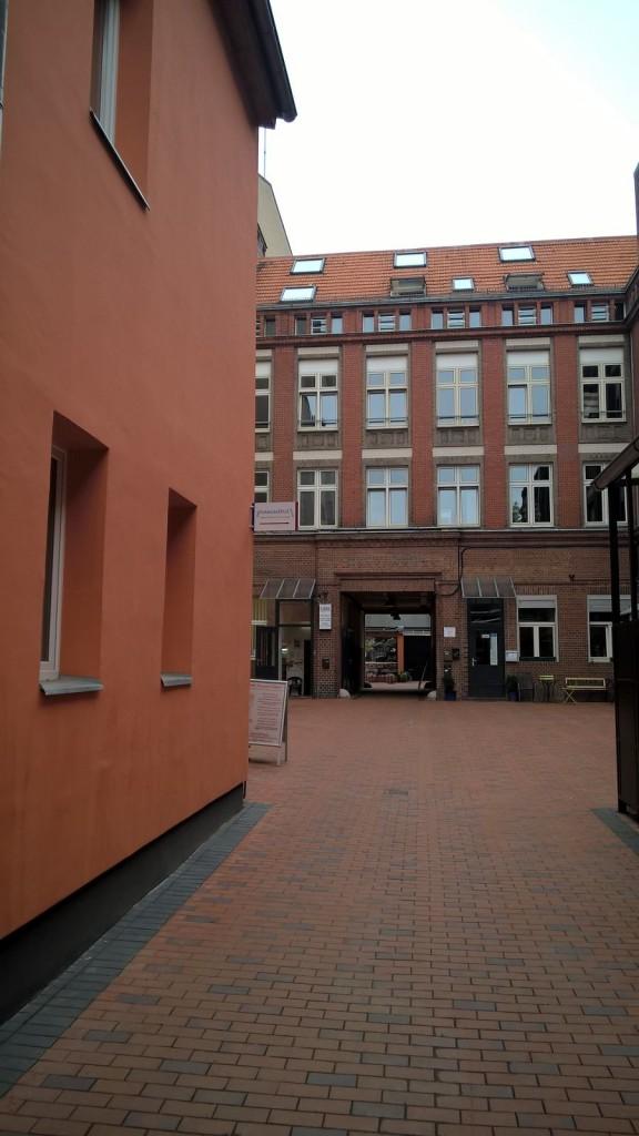 Blick in den Hof der SINNergie-Schmiede Berlin